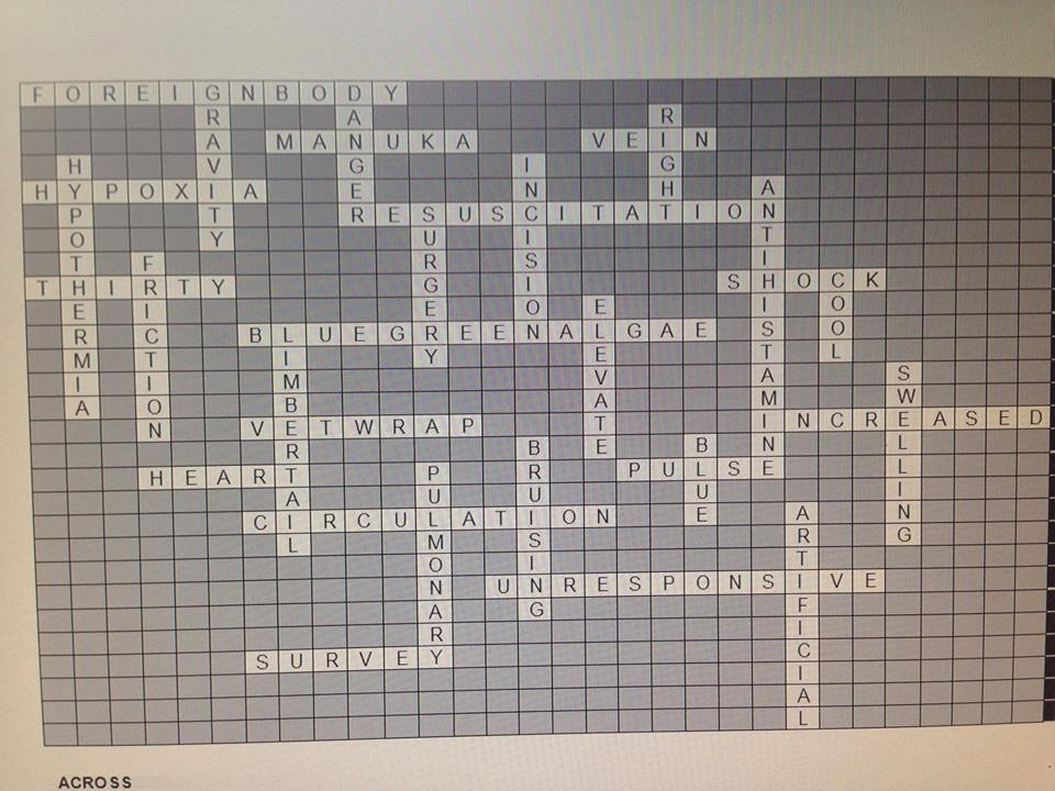 crossword canine answers