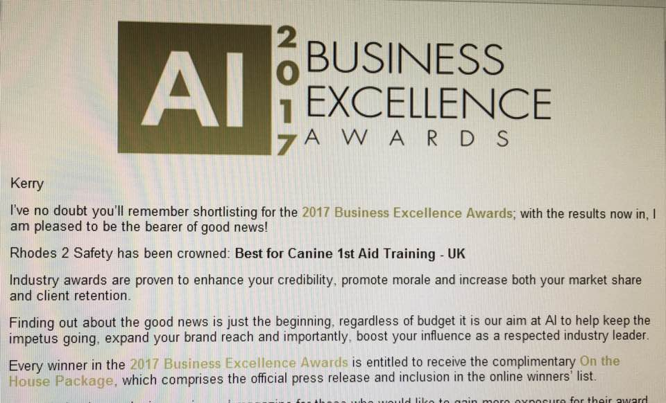 business excellence award 2017